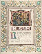 """Story Title Page, """"La Belle Vassilissa:, verso: text"""