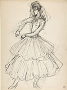 Costume design for a female dancer