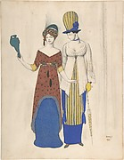 Two female haute couture figures