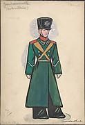 "Jeune homme noble.  Design for Stravinsky's ballet ""Petrouchka"" produced at the Metropolitan Opera, 1924-1931"