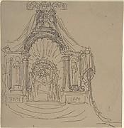 Design for a Throne (recto); Recumbent Figure (verso)