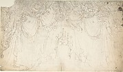 Design for Bed Alcove (recto); Studies for Statues and Carvings on Bed (verso)