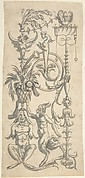 Candelabra Grotesque with a Crouched Satyr Carrying a Fruit Basket