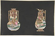 European porcelains design in Japanese style