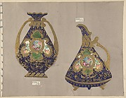 European porcelain designs in Japanese style