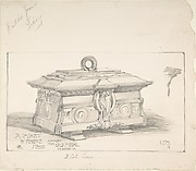 Design for a Casket in Gold Metal, for the Builder's Journal