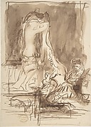 Study for 'The Bride at Her Toilet on the Day of Her Wedding'
