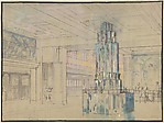 Design for the Interior of a Ship, The Empress of Britain