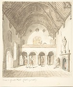 Lea Castle, Worcestershire, View in the Great Hall, Looking West