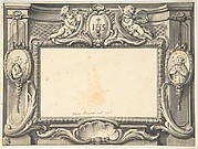 Design for a Frontispiece Surmounted by the Sacred Monogram IHS
