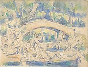 Bathers by a Bridge (recto);  Study after Houdon&amp;#39;s Ecorch&#233; (verso)