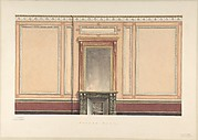 Coffee Room Elevation, Pompeian style