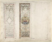 Design for Stained Glass with Marine Motifs