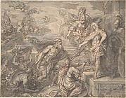 Neptune and other Marine Deities Paying Homage to Louis XIV
