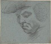 Head of Man Facing Left