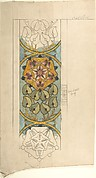 Design for Ecclesiastical Embroidery, Vertical Pattern with Tudor Rose