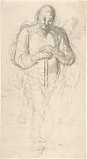 Standing Figure of a Man with a Staff