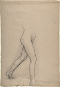 "Study of a Girl's Legs for the painting ""Young Spartans"""