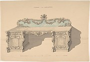 Design for Sideboard, Louis Quatorze Style