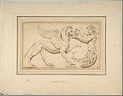Foliate Amor Pouring a Drink for a Griffin