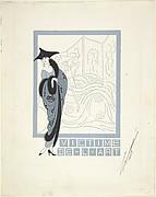 """Victime de l'art. . . ,"" Illustration for Harper's Bazaar"