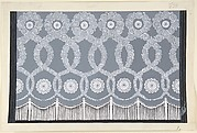 "Design for Grey and White Tasseled Curtain (Premier Voile)  for ""Les Mariages,"" George White's Scandals"