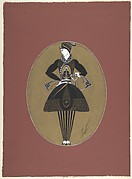 "Man's Costume Design in Black and Gold  for ""Prince Amoureux,"" George White's Scandals, New York"