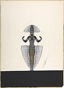 "Costume Design Outlined in Feathers for ""Ballet Africain,"" George White's Scandals, New York"