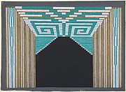 "Stage Set Design with Green and White Geometric Pattern for ""Les Spectacles,"" George White's Scandals, New York"