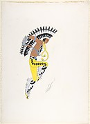 """Chief,"" Costume Design for ""Indian Dagger Dance,"" George White's Scandals, New York, 1928"