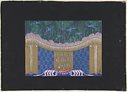 "Stage set design for ""The Queen of Sheba,"" 1928"