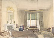 Drawing Room with Seated Woman
