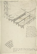 Drawing for an iron stairway with marble treads