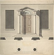 Design for a Doric Porch, Plan and Elevation