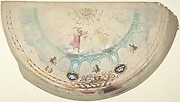 Half of a Circular Ceiling Design with Nymphs