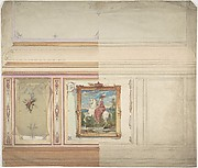 Wall Design including an Equestrienne Portrait