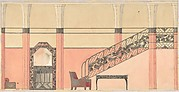 Design for a Hallway with Wrought-iron Details