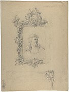 Two Rococo Frames, with Christ as Man of Sorrows in Upper Design