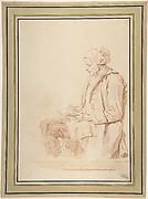 Seated Man Reading