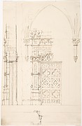 Design for a Gothic Wall and Door