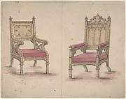Designs for Two Gothic Style Chairs