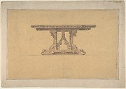 Design for a Gothic Style Table