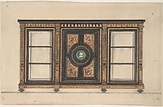 Design for a Cabinet with Portrait Rondel