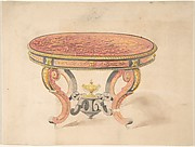 Design for a Round Renaissance Style Table