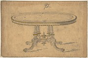 Design for a Round or Oval Renaissance Style Table