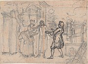 "Study for an Engraving of ""Songs in the Opera of Flora"""