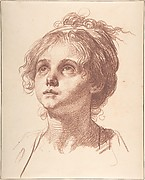 Head of a Girl Looking Up