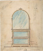 Design for a Mirror-fronted Cabinet Topped with a Mirror