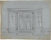 Design for a Cabinet with Glass Side Doors and Porcelain Plaques