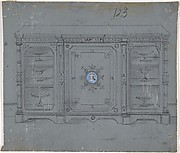 Design for a Cabinet witha Porcelain Plaque on the Center Panel